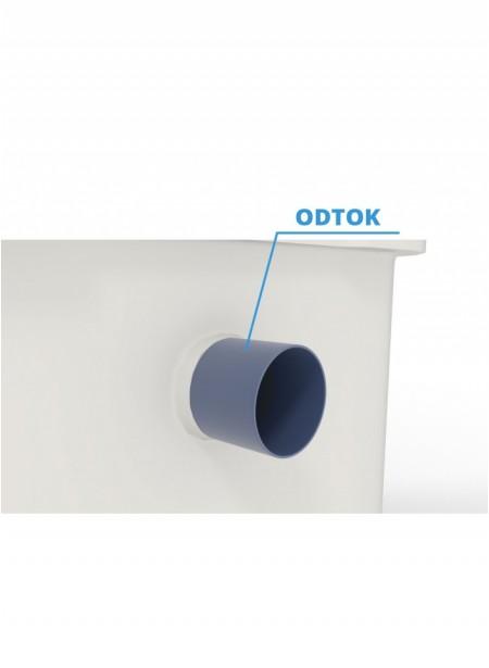 Nádrž z atestovaného materiálu pro pitnou vodu dvouplášťová kruhová 2 m³