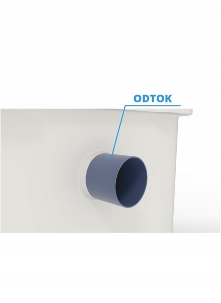 Nádrž z atestovaného materiálu pro pitnou vodu dvouplášťová kruhová 8 m³